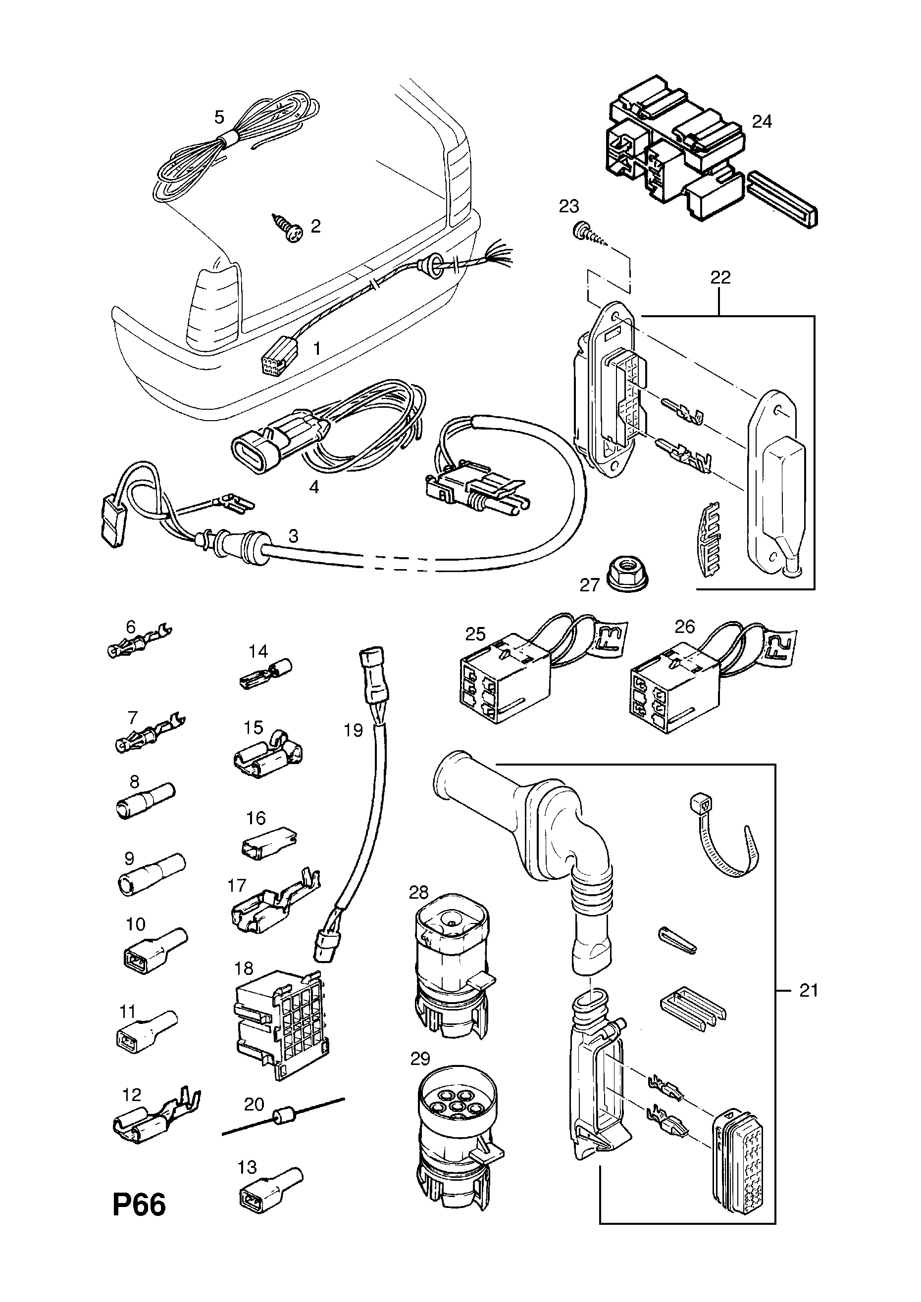 Opel Senator Wiring Diagram Library 1958 B 1988 1994 P Electrical 10 Harness 87 List Of Parts