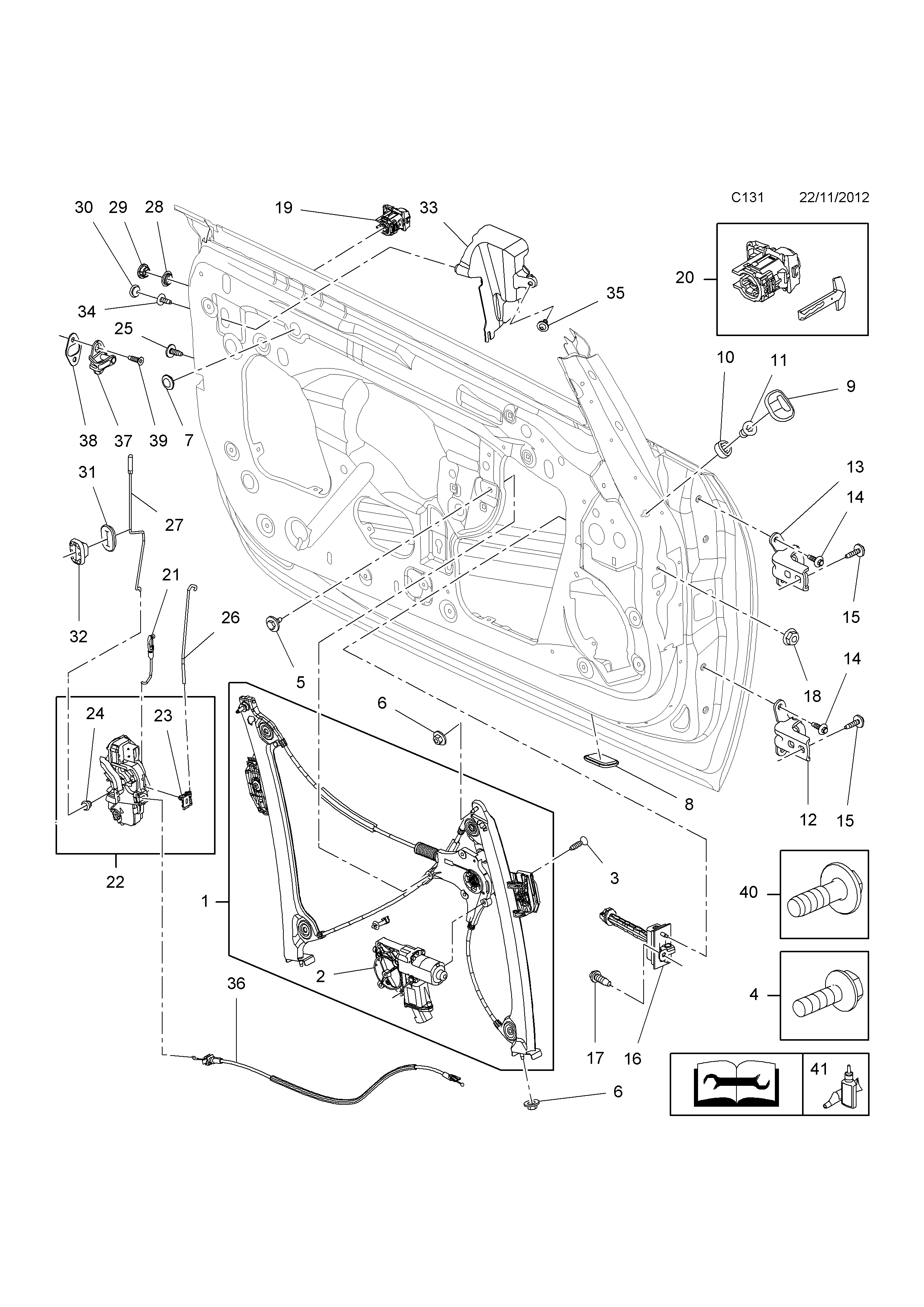 Opel cascada 2013 c body interior fittings 10 front door list of parts sciox Image collections
