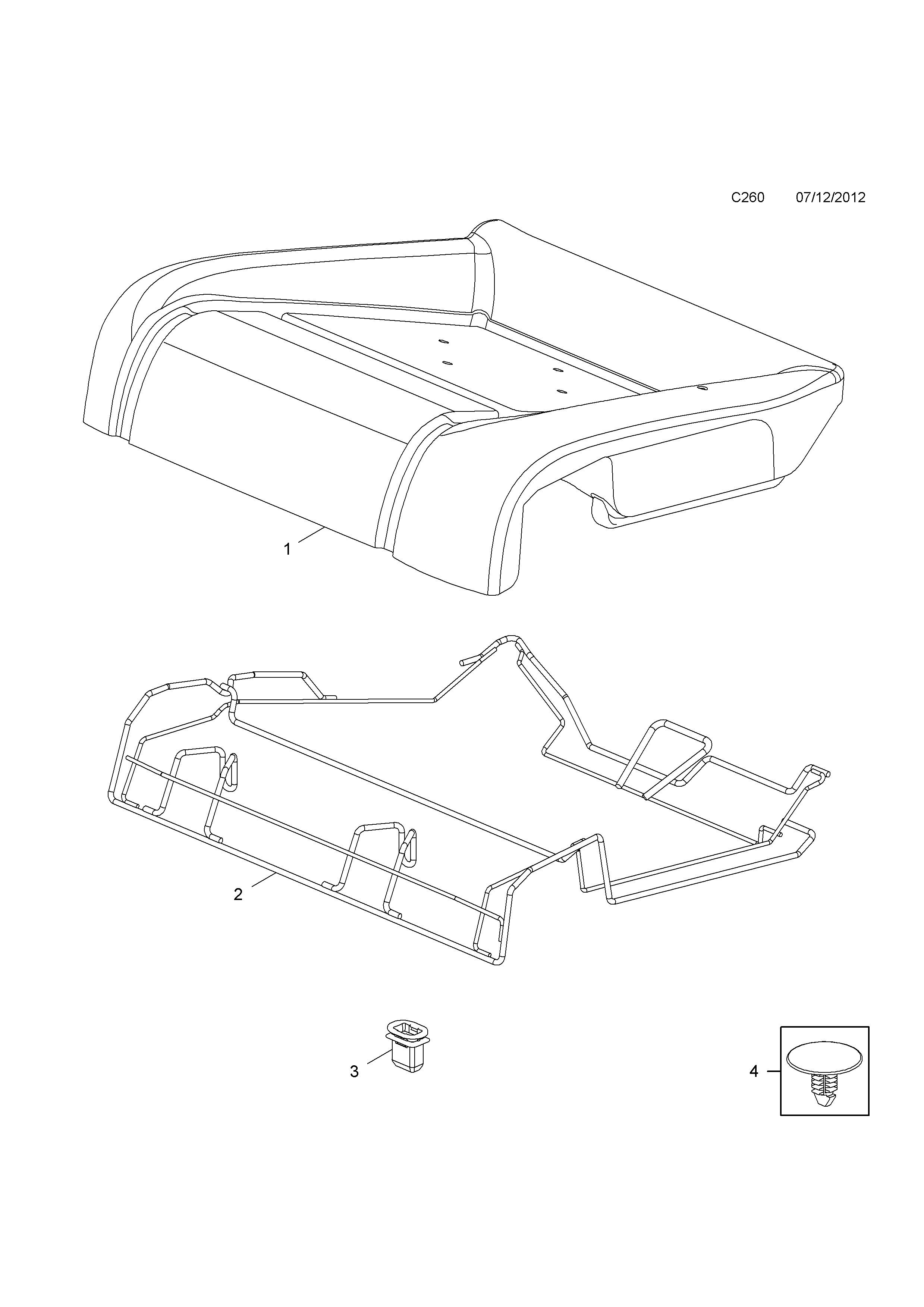 Opel cascada 2013 c body interior fittings 16 rear seat list of parts sciox Image collections