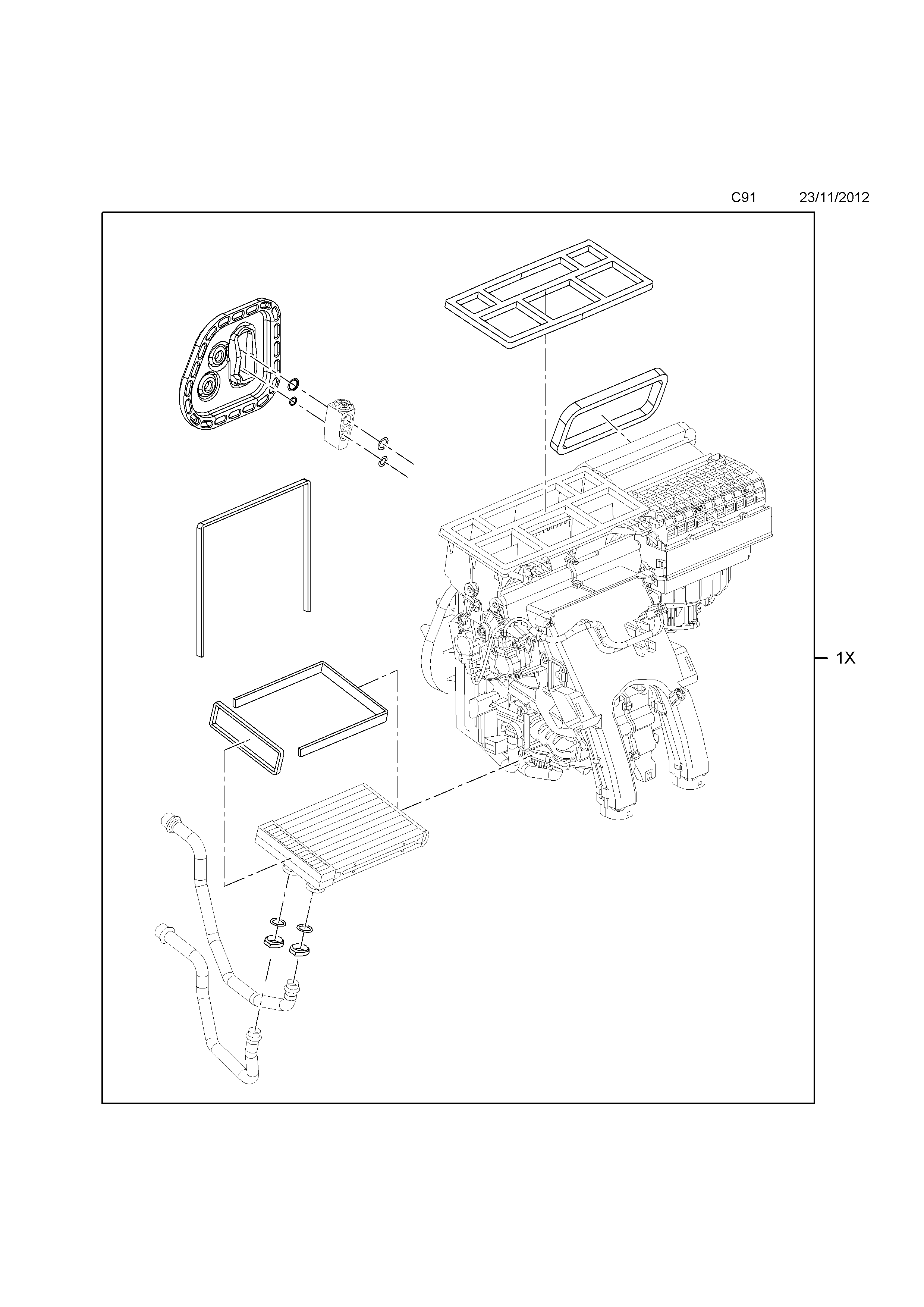 Opel cascada 2013 c body interior fittings 6 heater air list of parts sciox Image collections