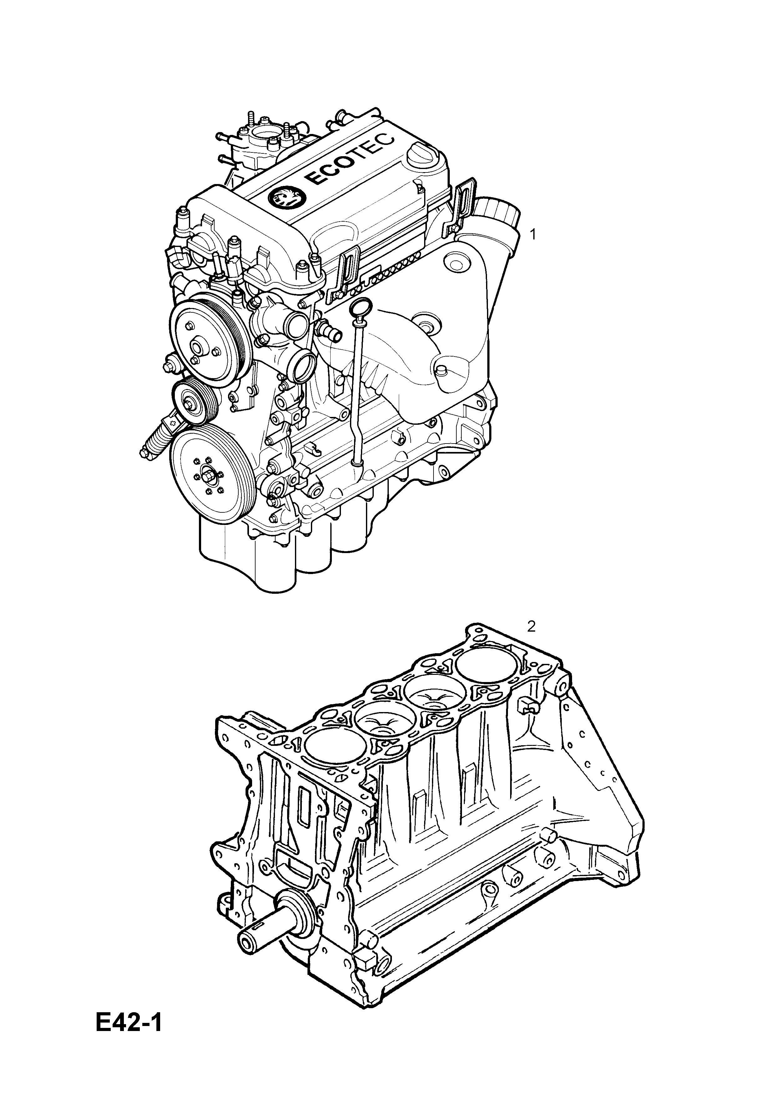 Vauxhall Corsa C 2001 E Engine And Clutch 4 Z14xeplj2 Gm Ecotec Diagram Part Number Genuine Description Range Short Motor