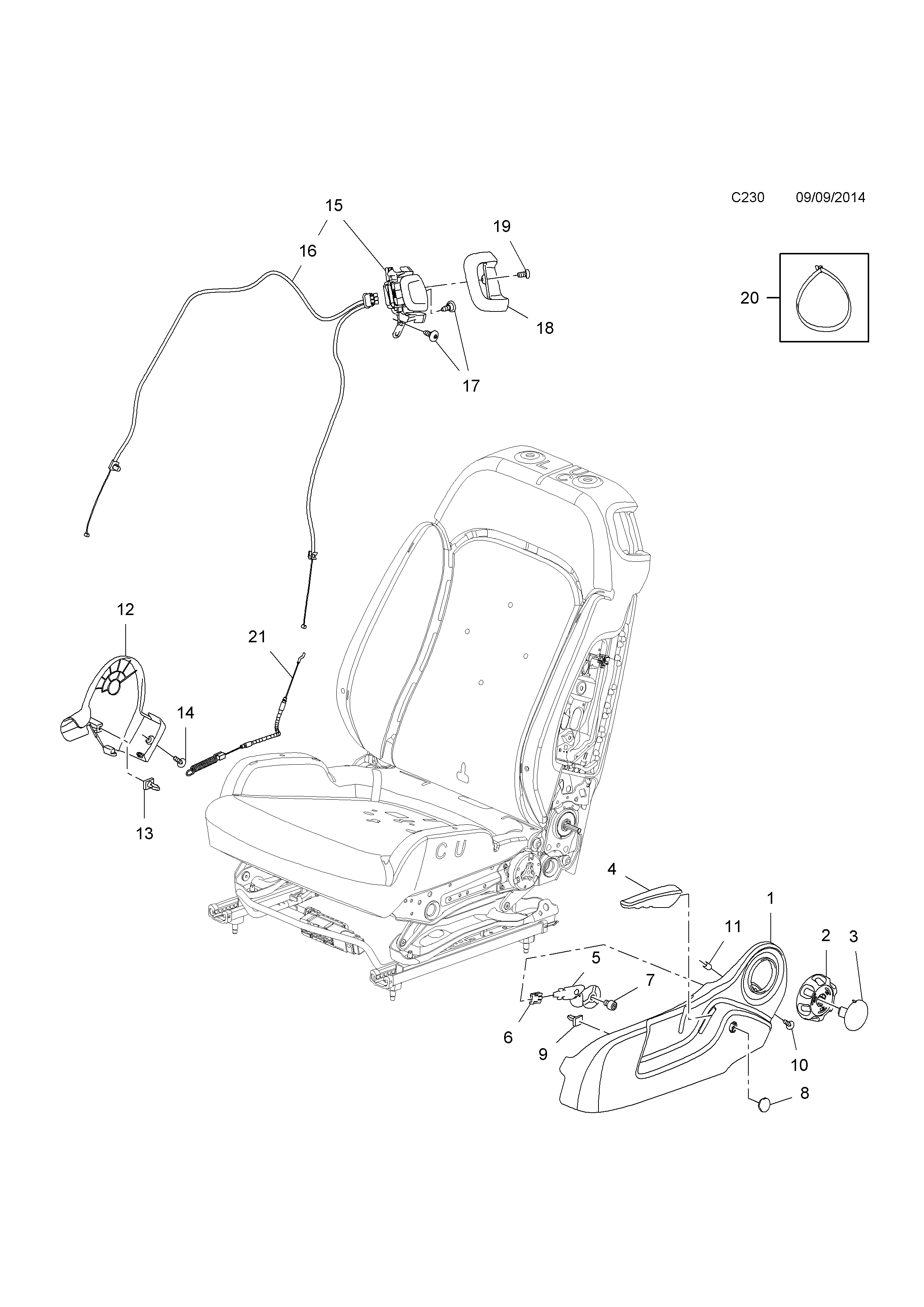 opel corsa e 2015 c body interior fittings 15 front seat 2015 Opel Astra Convertible list of parts