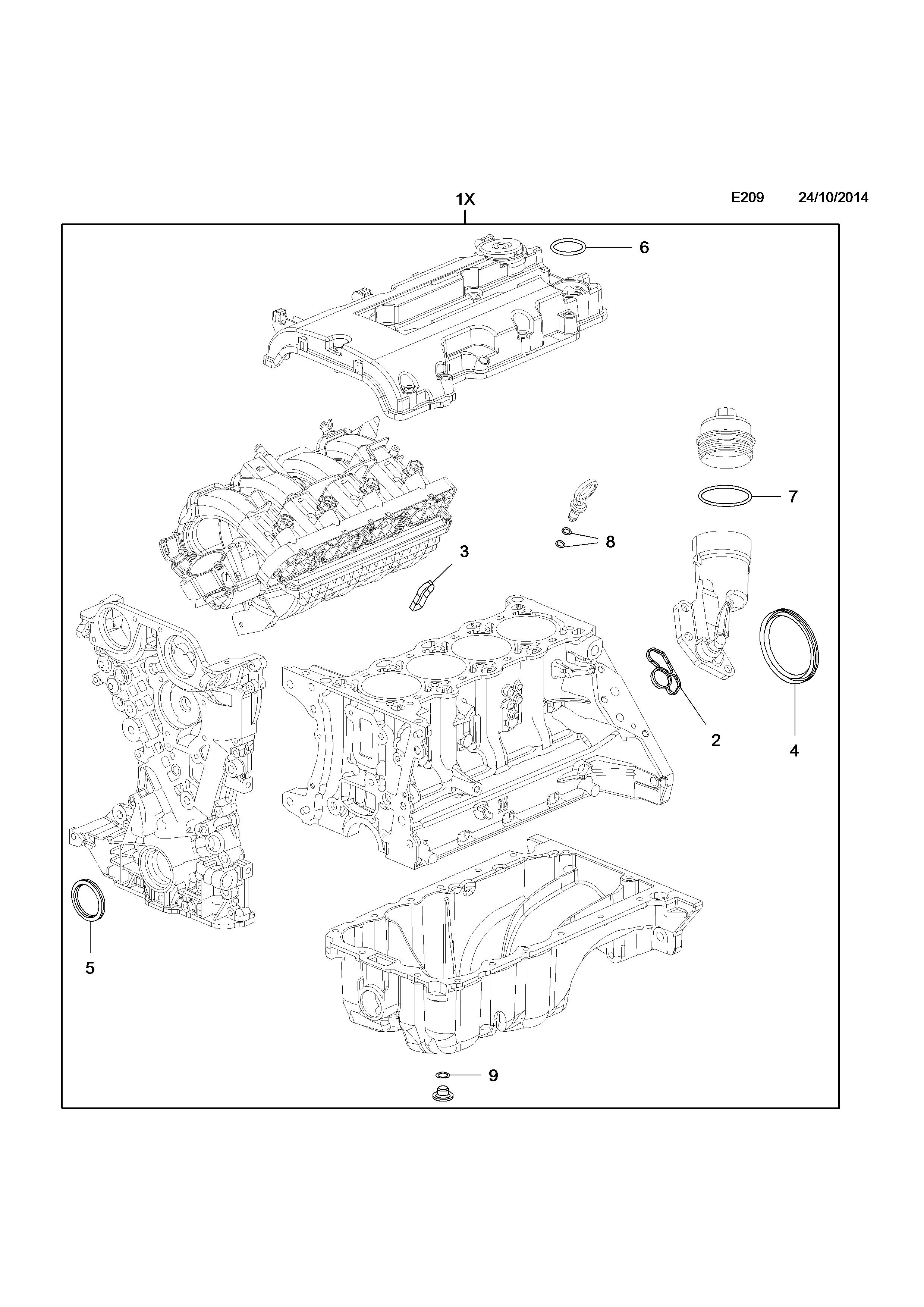 opel corsa e 2015 e engine and clutch 3 b14xej ldd b14xel 2015 Opel Sport list of parts