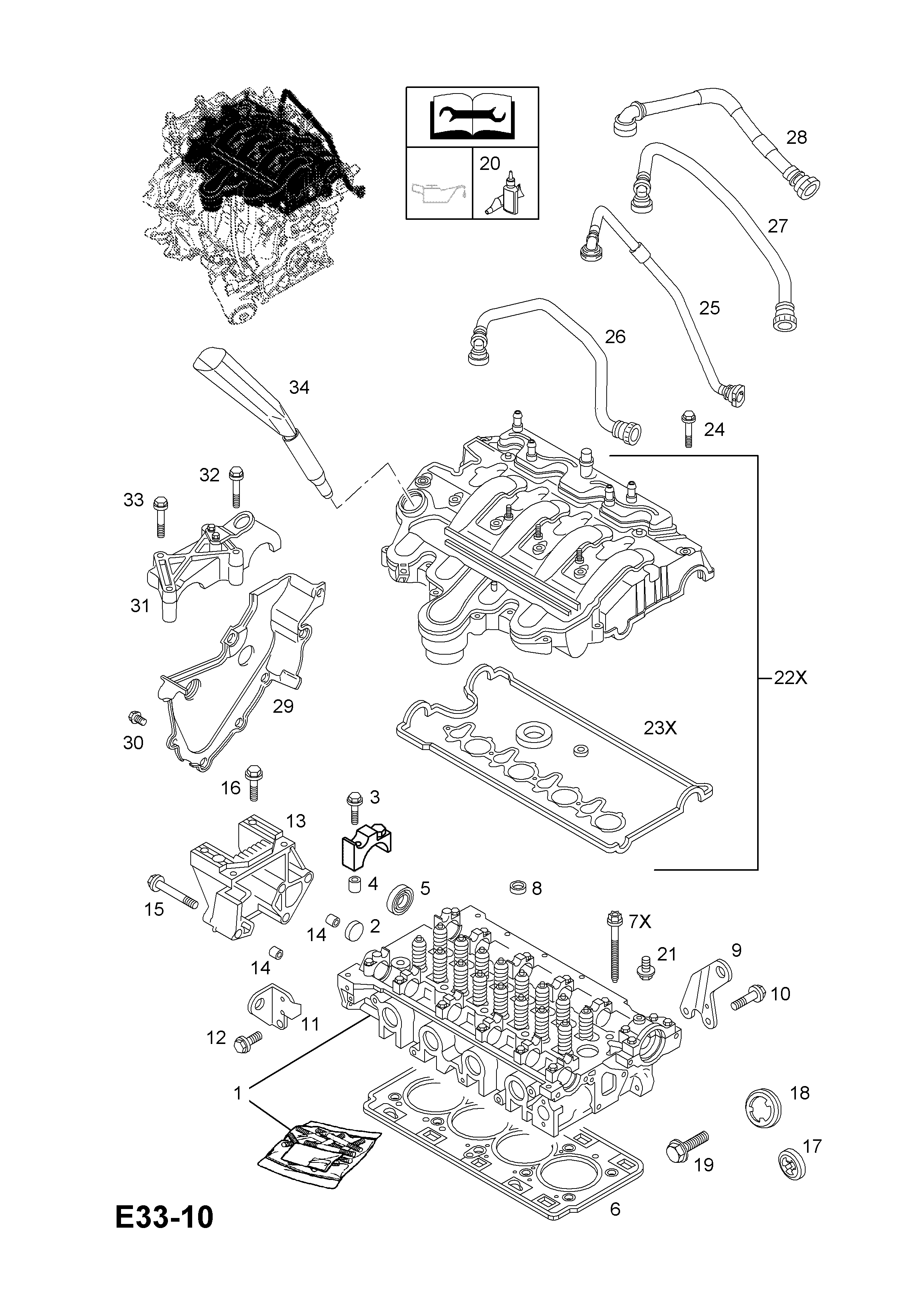 opel movano a 1999 2010 e engine and clutch 4 25dti g9u 720 Cylinder Head Components gm part number genuine part number description range cylinder head