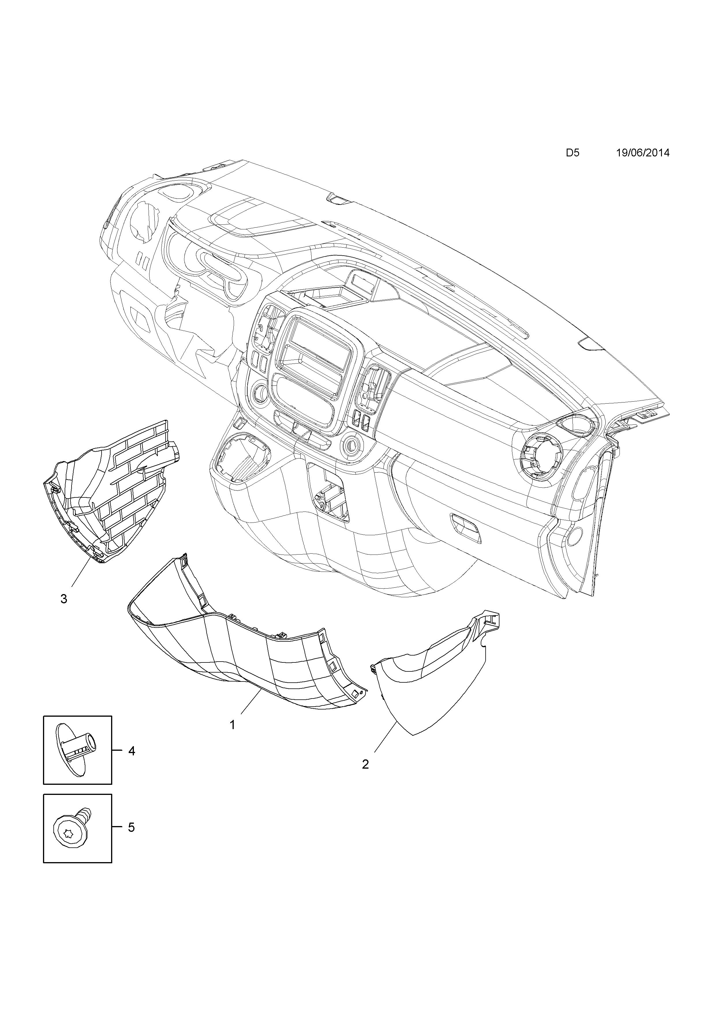 vauxhall vivaro b 2015 d body interior trim 1 instrument 2016 Opel GT list of parts