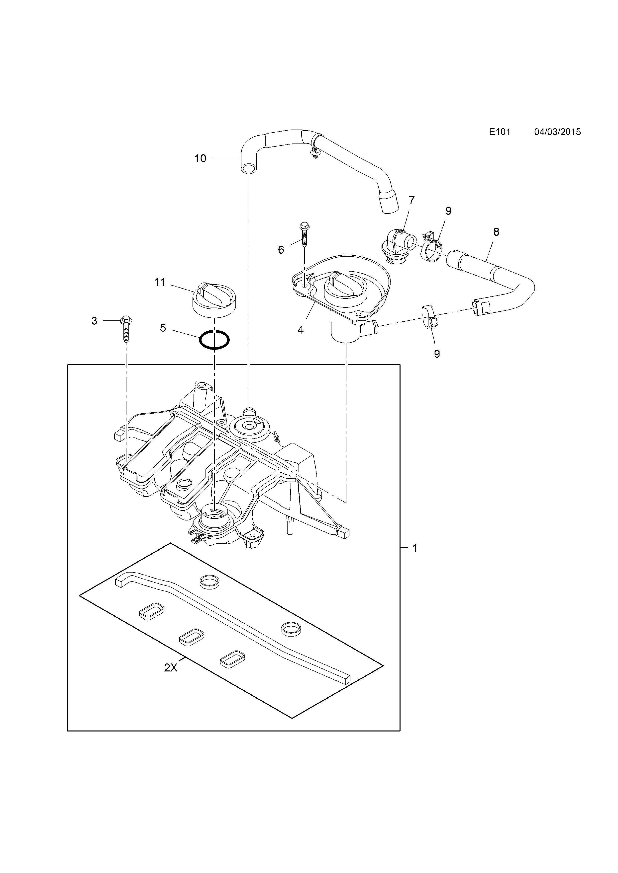 Opel Vivaro B 2015 E Engine And Clutch 1 16d R9m Mambmc Mb Diagram List Of Parts