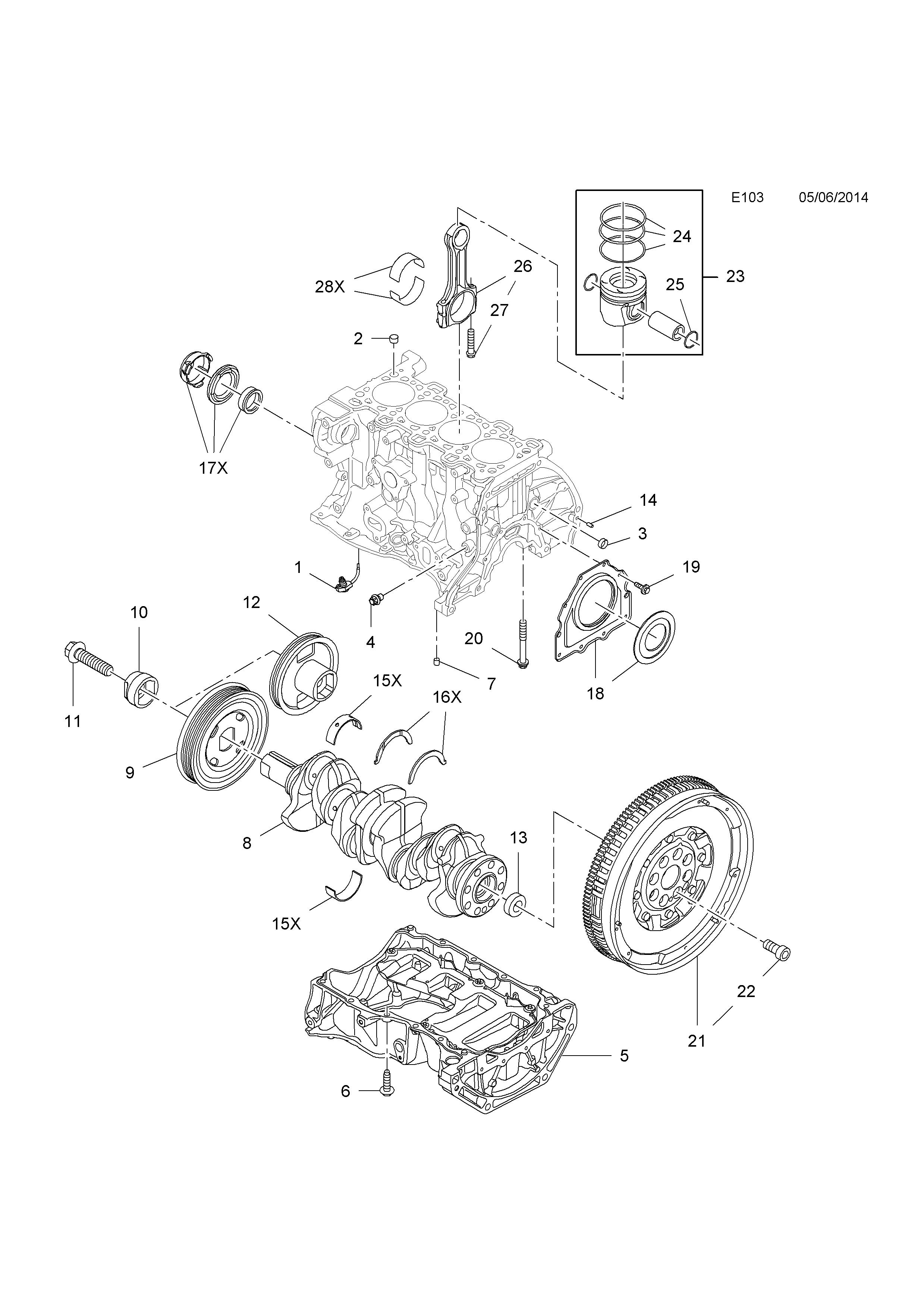 opel vivaro b 2015 e engine and clutch 1 16d r9m ma mb mc 1964 Opel GT list of parts