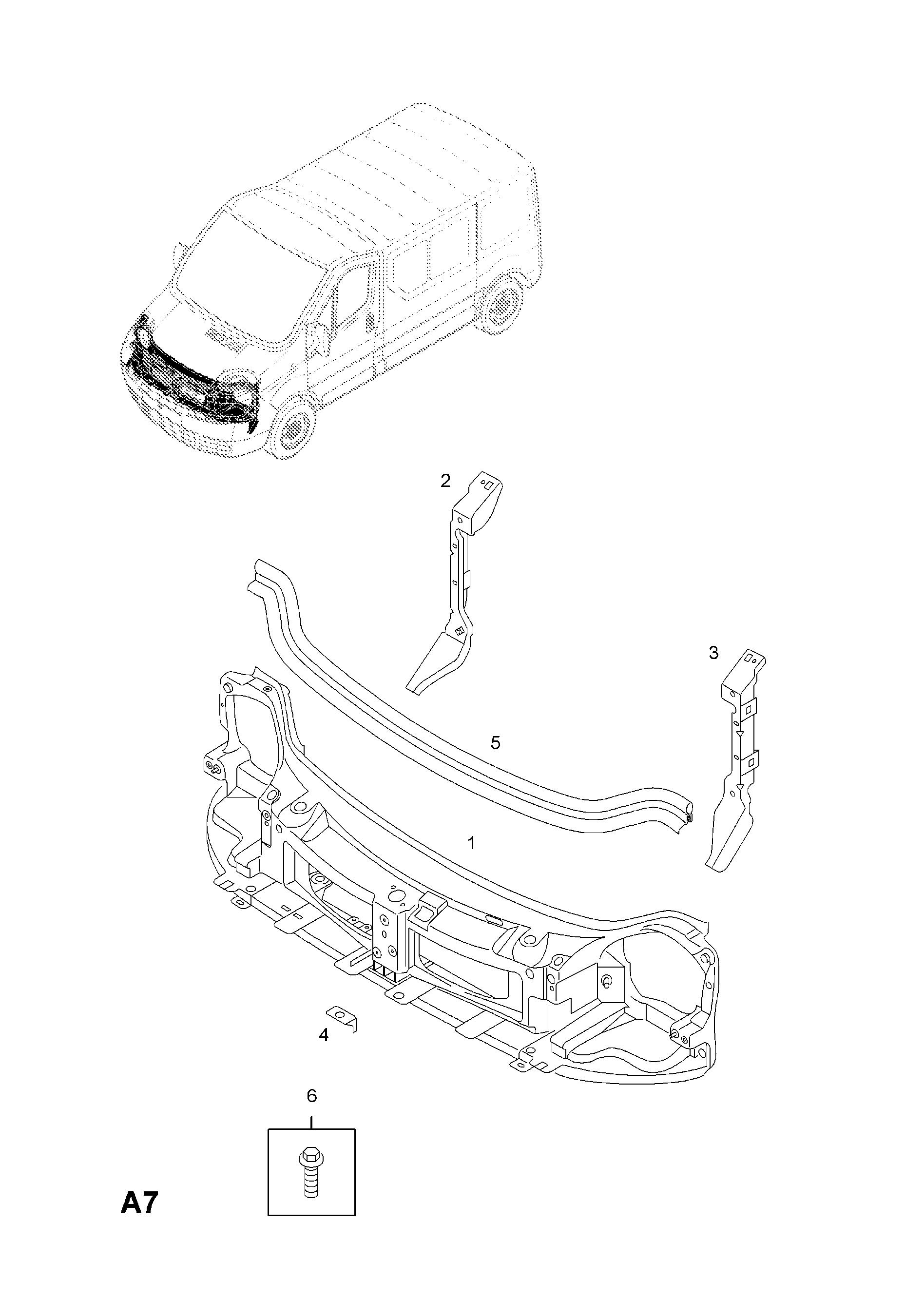 Vauxhall VIVARO-A ( 2001 - ), A BODY SHELL AND PANELS, 3