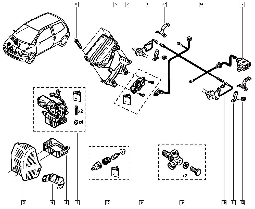 Metalcaucho Pedalbelag Bremspedal RENAULT TWINGO I C06/_ CLIO I B//C57/_ 5//357/_