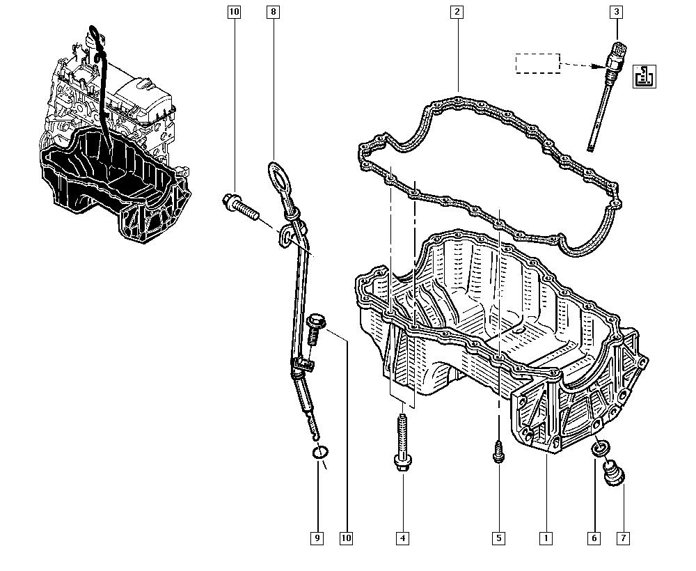 Двигатель логана рисунки