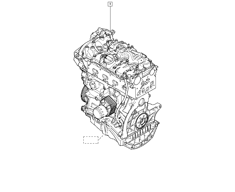 Mégane III, DZ04, Manual, 10 Engine / Complete engine