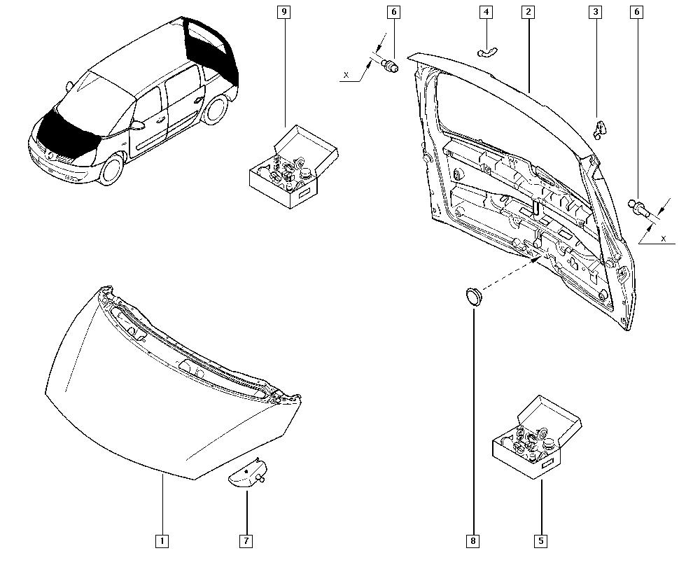 2x actives Carbon OPT Paupière 120 cm pour RENAULT ESPACE IV jk0//1 Tuning