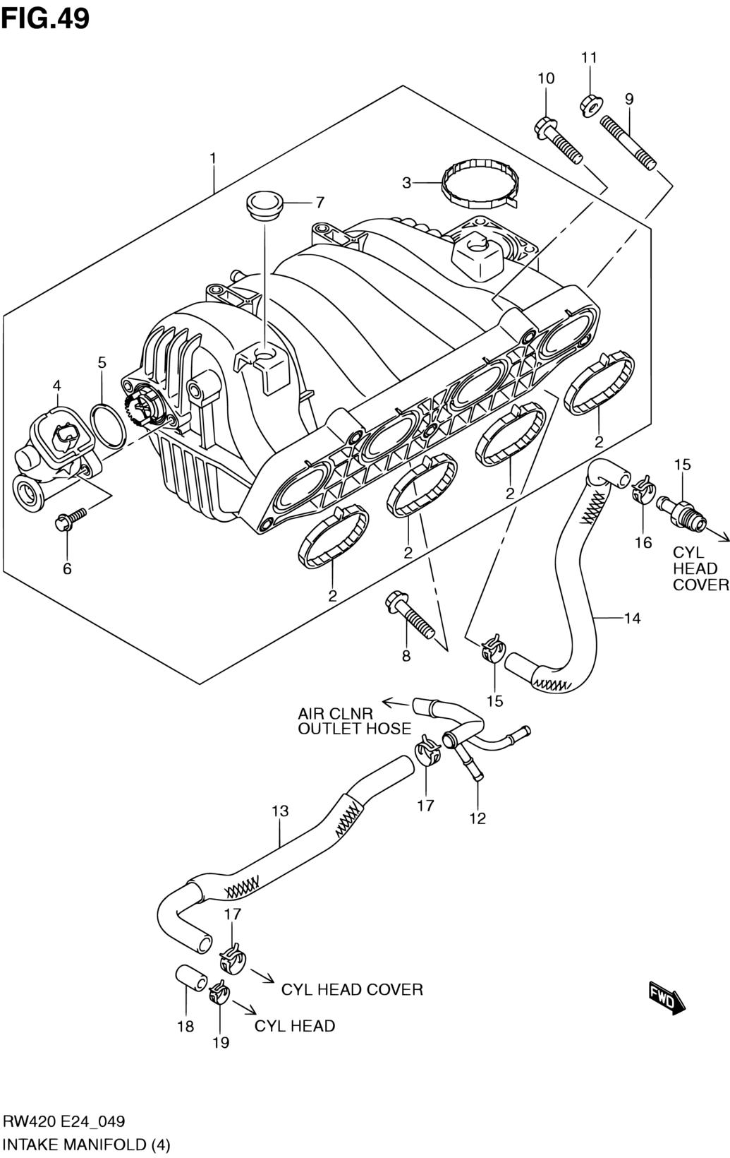 4 9l Engine Diagram Intake Manifold - Wiring Diagram Schematics  L Engine Diagram on