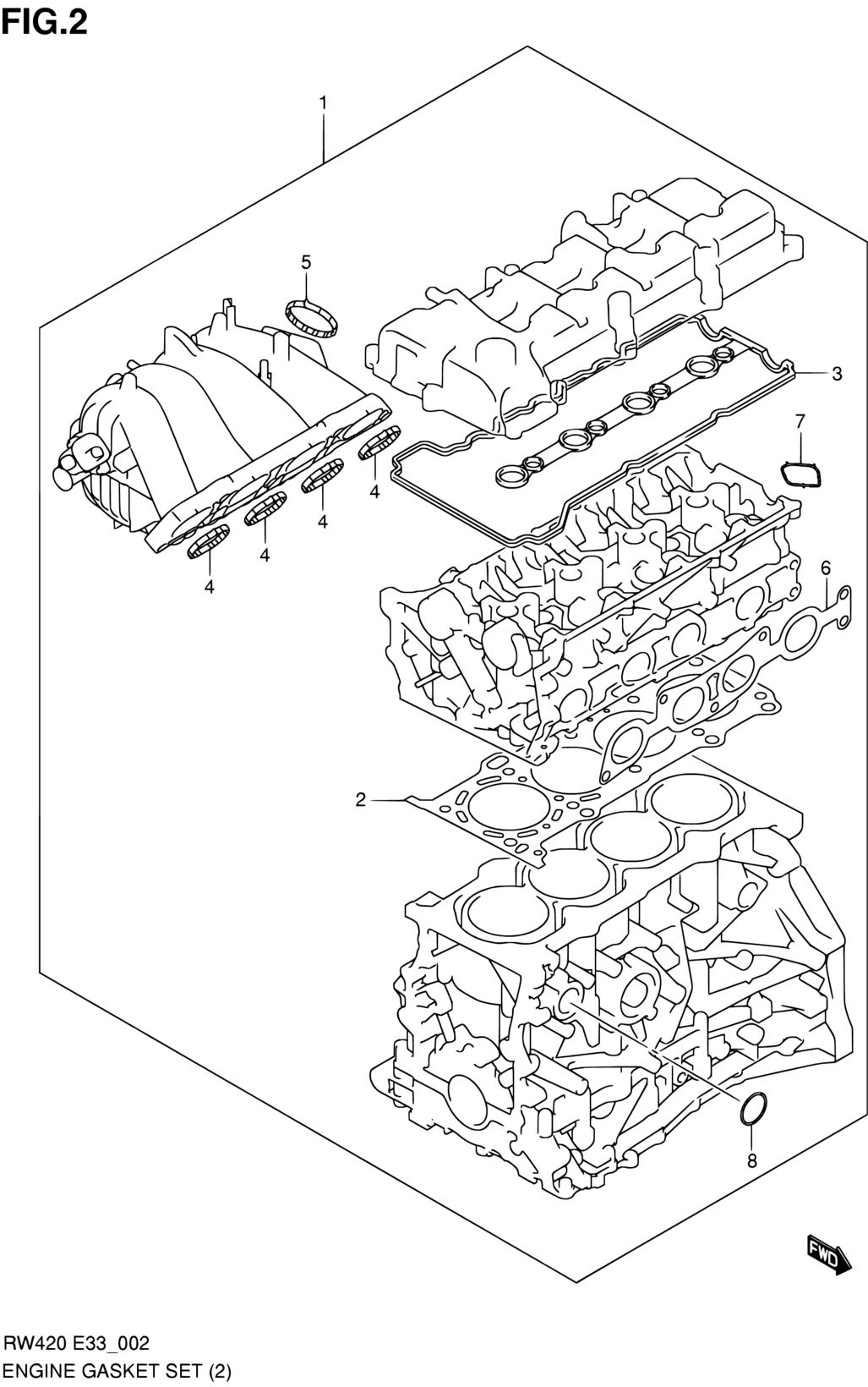 United States Sx4 Rw420 E03e33my 2009 Engine 2 Suzuki Diagram Parts