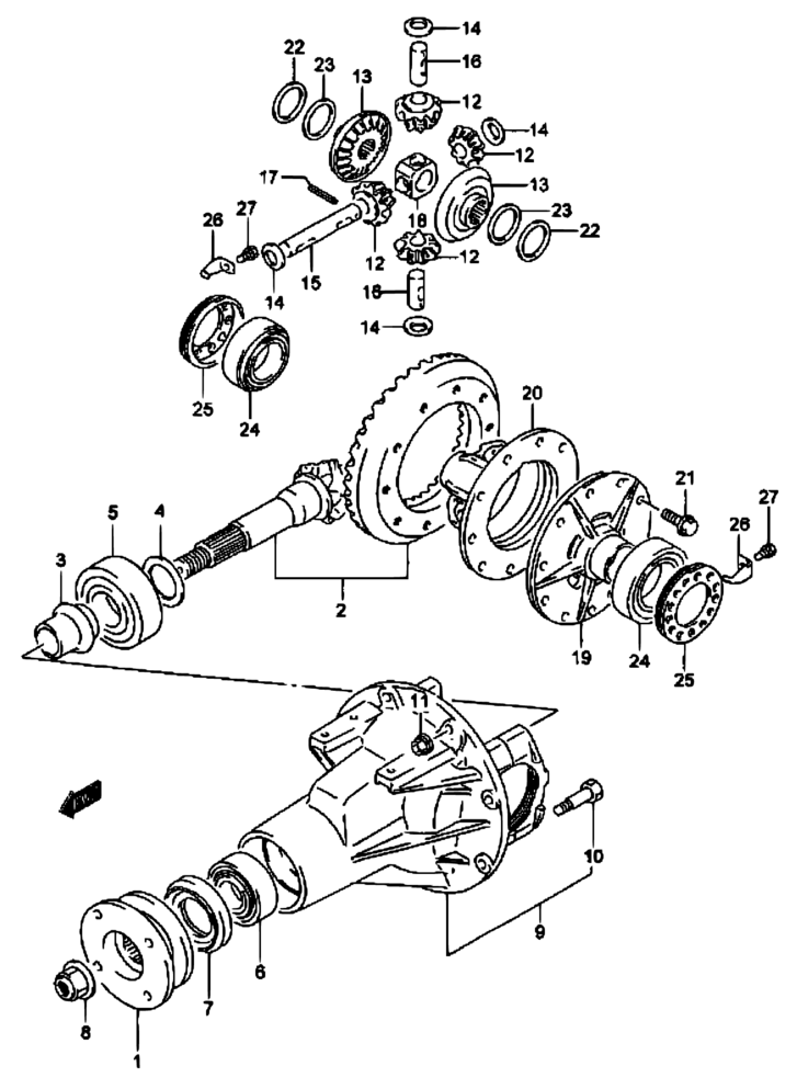 suzuki sidekick starter diagram