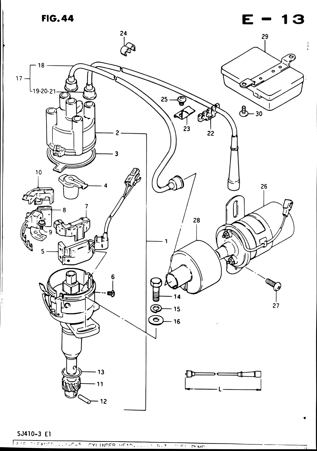 Middle East Samurai Sj Sj410q 3 E01 Engine Electrical 44 1986 Suzuki Wiring Diagram Parts