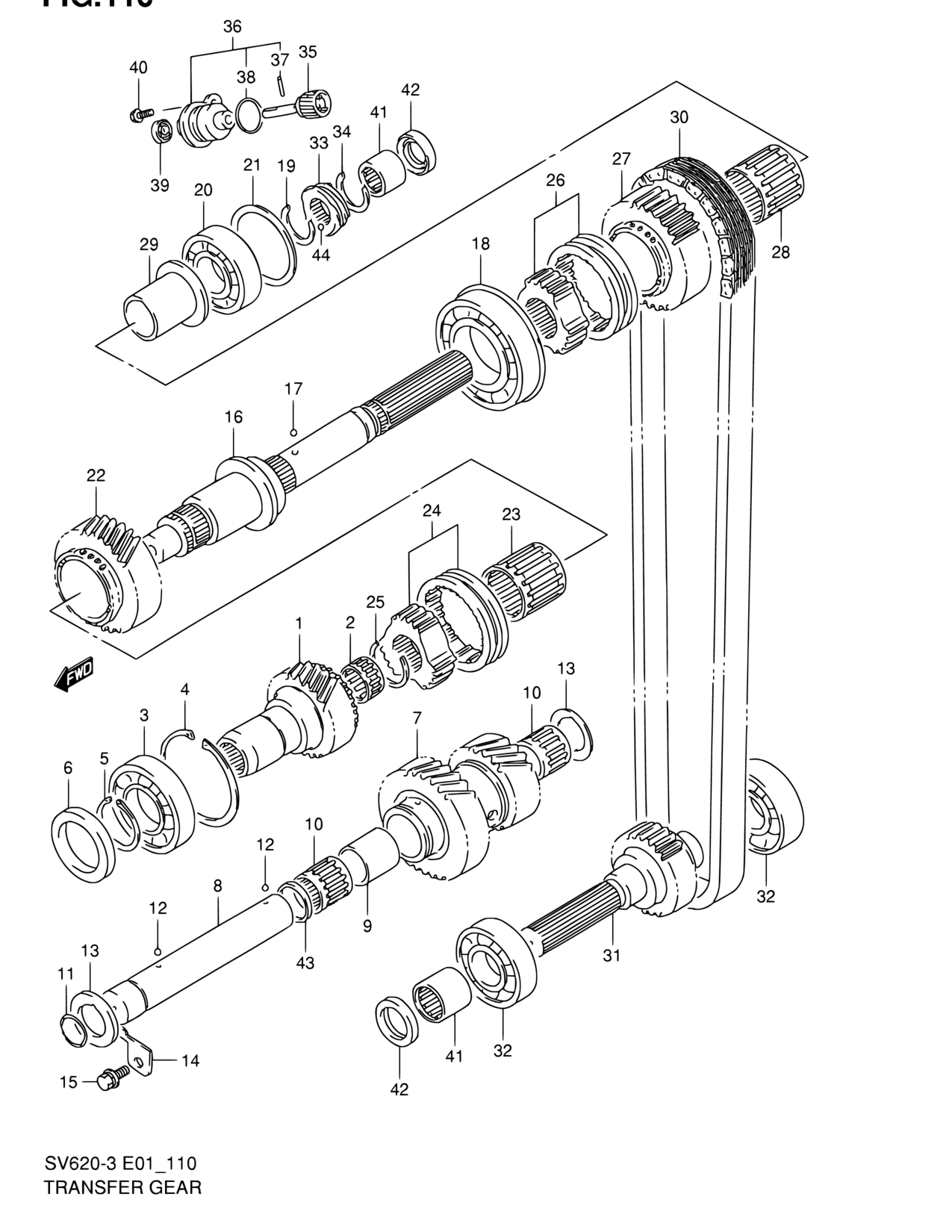 Suzuki 09280-21008 ENG SPROCKET O