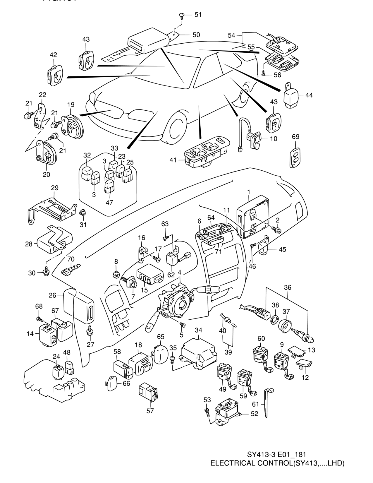 Asia Baleno Esteem Sy418 5 Electrical 181 Control Type Wiring Diagram Parts