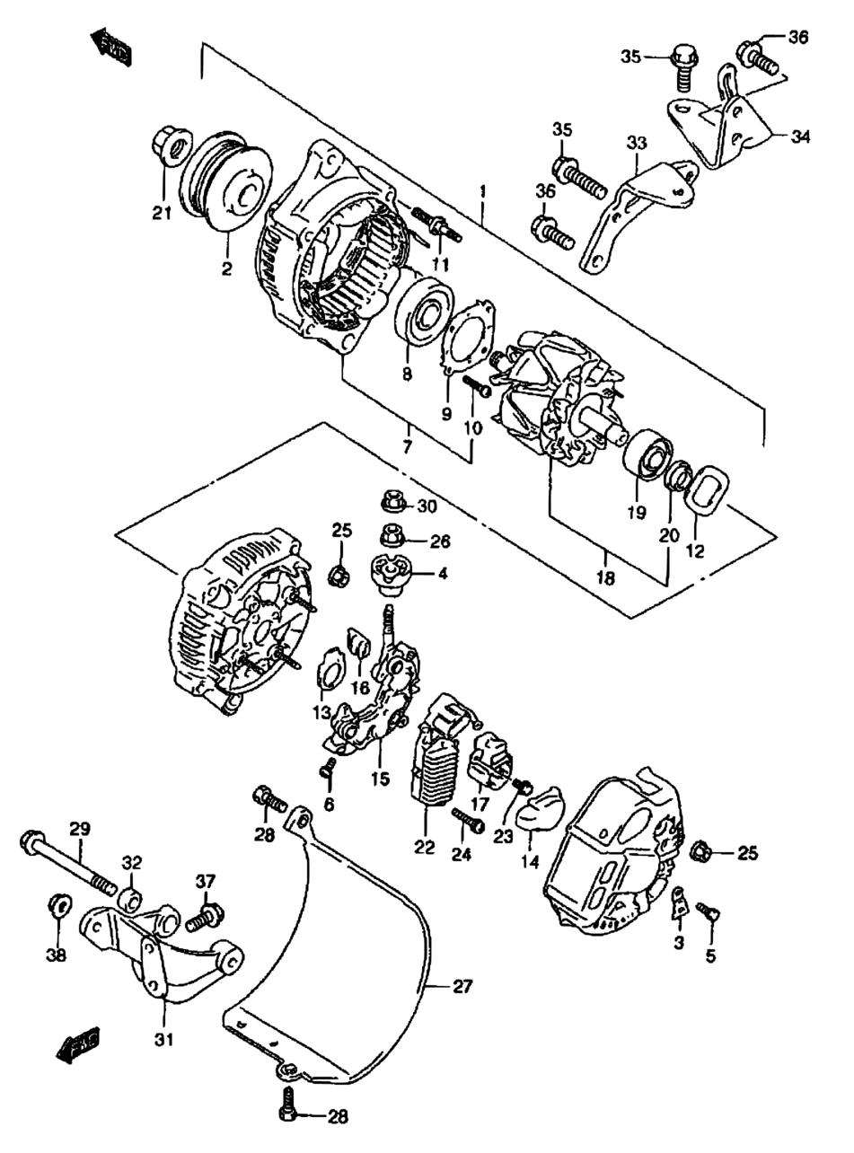 All Regions Baleno Esteem Sy418 E03e28e33e60my 2002 Suzuki Engine Diagram Parts