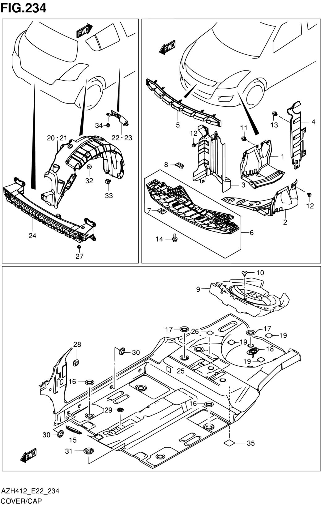 Middle East, Swift, AZH412 (E22), Body, 234 - COVER/CAP - Catcar info
