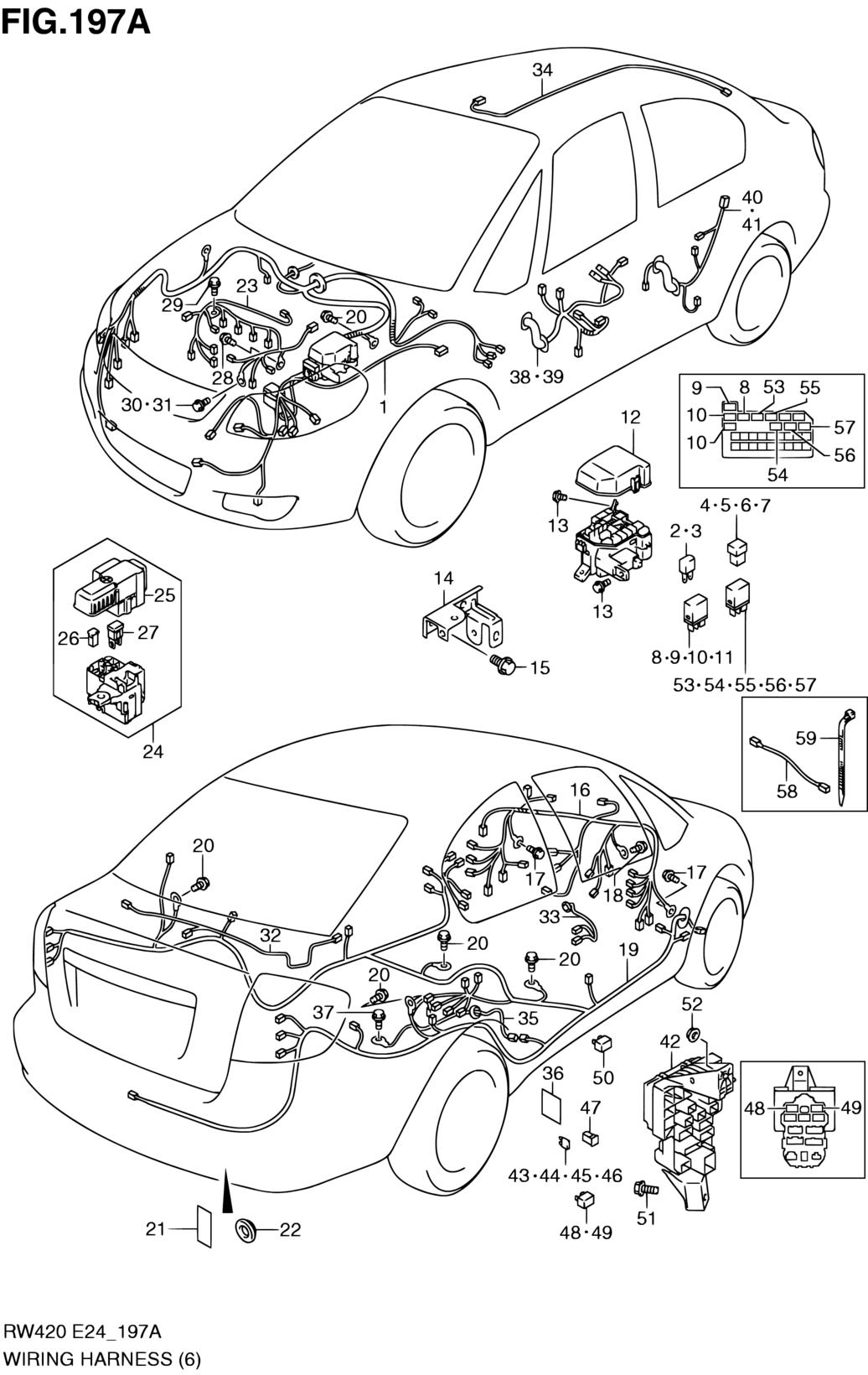 Europe, SX4, RW416-6 (E30,E38), Electrical, 197A - WIRING
