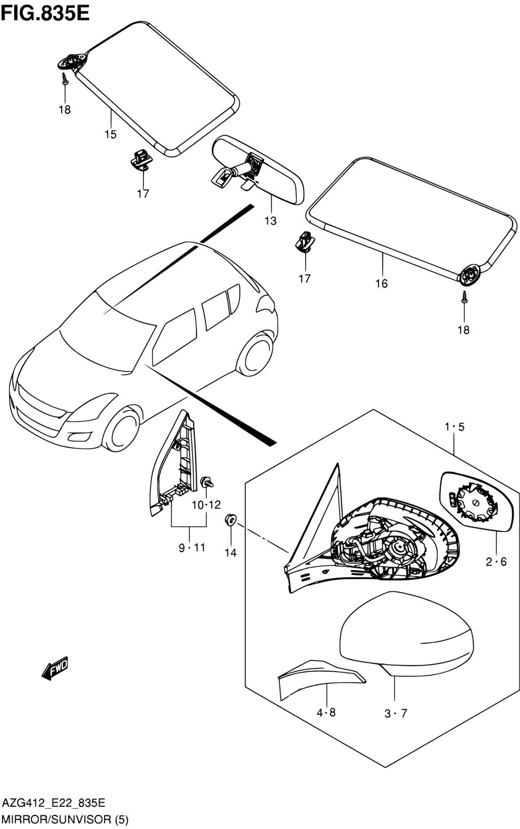X AUTOHAUX Paire Remplacement Arri/ère Arri/ère /Éclairage Lampe Objectif Couvercle RH LH pour Voiture