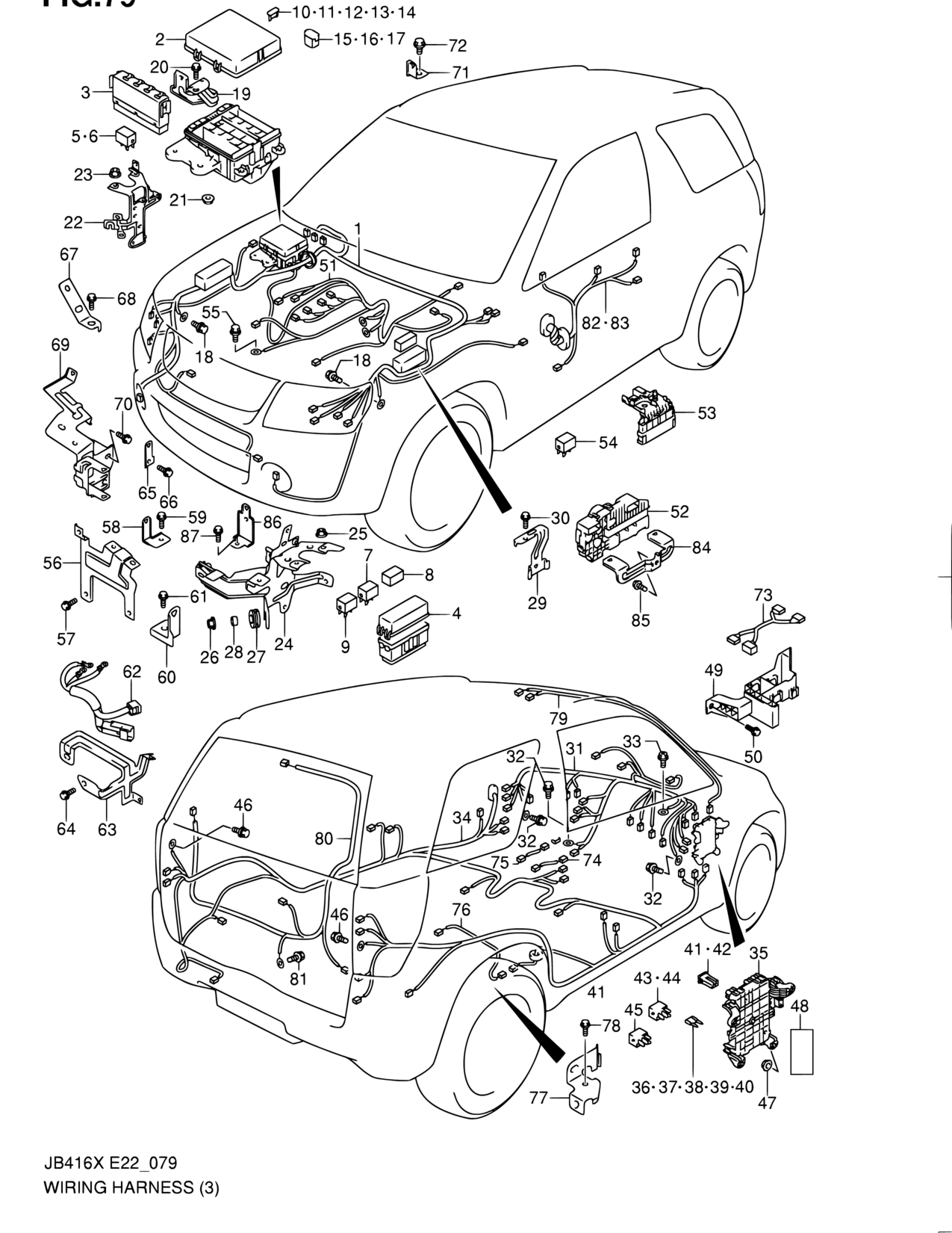 Asia Grand Vitara Jb419xd Electrical 79 Wiring Harness Suzuki Parts