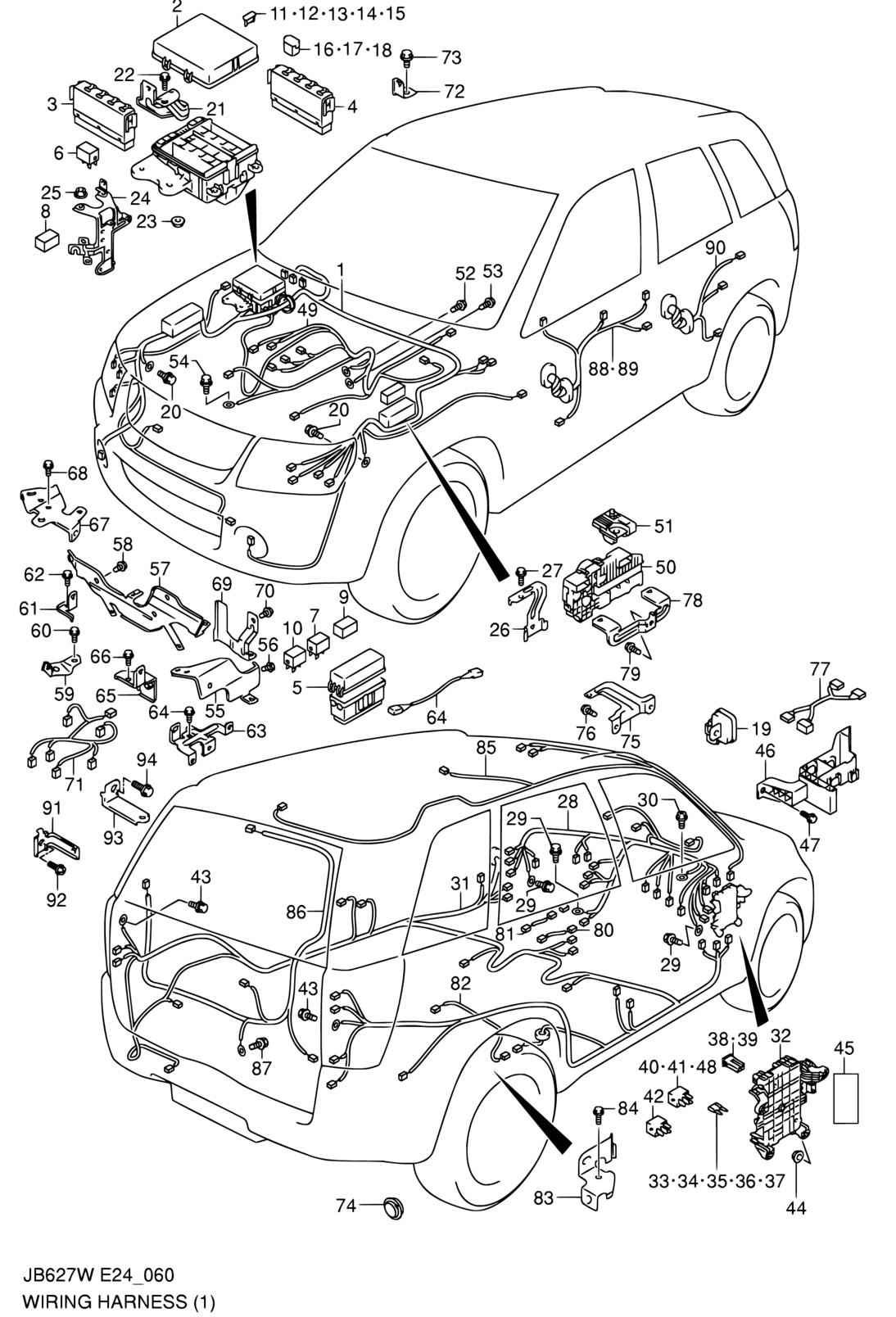 All Regions, Grand Vitara, JB627W (E24,E38), Electrical, 60
