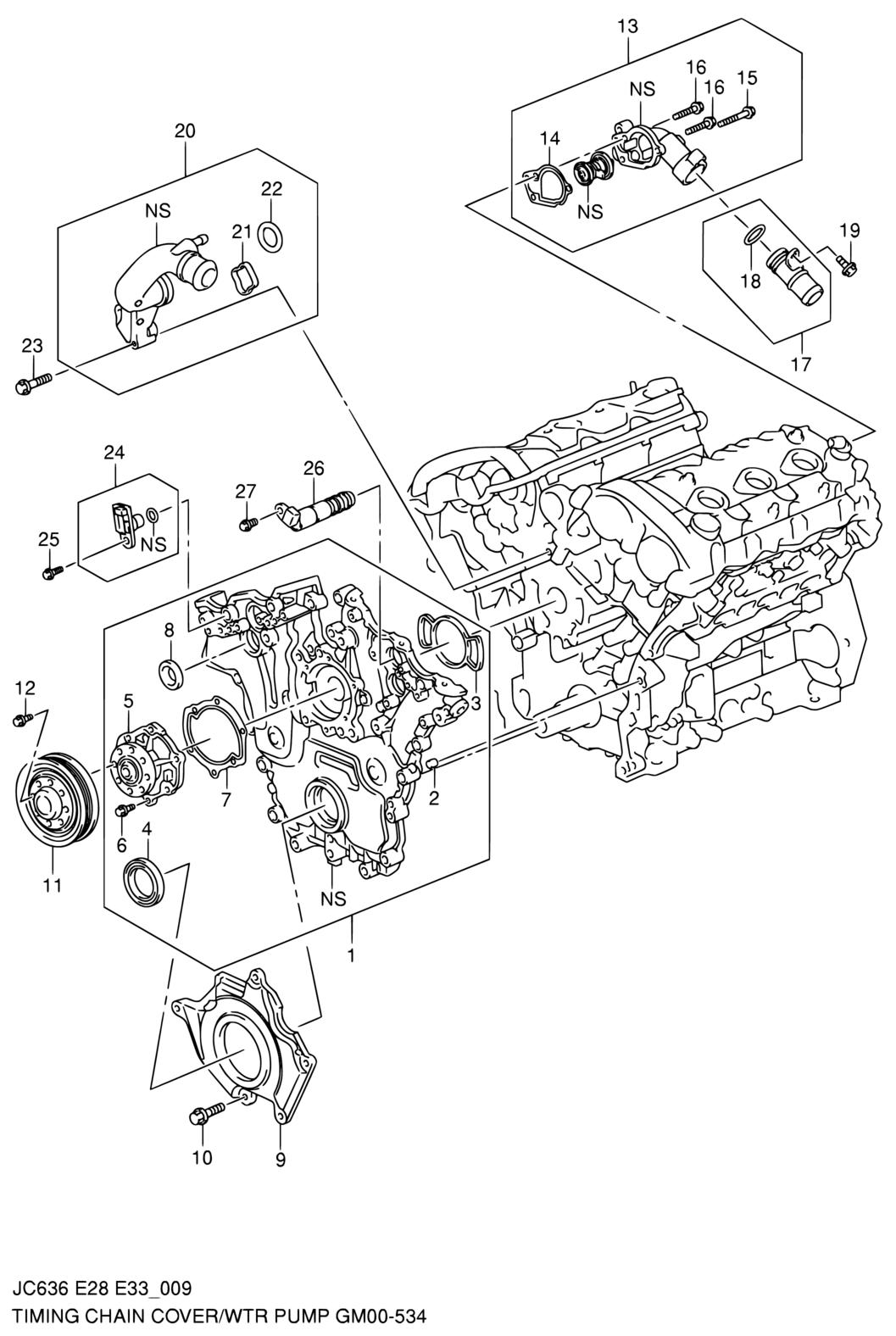 United States Grand Vitara Xl7 Jc636 E28e33my 2008 Cooling. Suzuki. 2008 Suzuki Grand Vitara Water Pump Diagram At Scoala.co