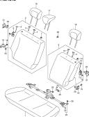 181B - REAR SEAT (TYPE 3:4DR:N/ARMREST:REAR CENTER SEAT BELT 3 POINTS)