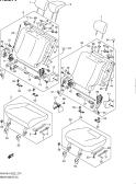 274 - REAR SEAT (5DR:N/ARMREST:REAR CENTER SEAT BELT 3 POINTS)