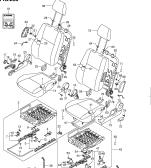 258 - FRONT SEAT (5DR:RHD:GL,GLX)