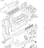 2 - ENGINE GASKET SET (RM413D)