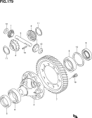 179 - FRONT DIFFERENTIAL GEAR