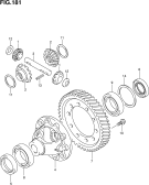 181 - FRONT DIFFERENTIAL GEAR