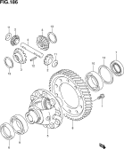 186 - FRONT DIFFERENTIAL GEAR (6MT:2WD)