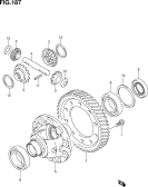 187 - FRONT DIFFERENTIAL GEAR (6MT:4WD)