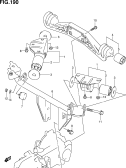 190 - REAR DIFFERENTIAL GEAR MOUNTING (4WD)