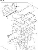 1 - ENGINE GASKET SET (TYPE 1,2:RW415)