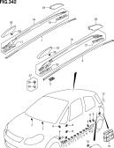 342 - MOLDING (W/ROOF RAIL)