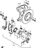 96 - FRONT WHEEL BRAKE (DISC TYPE)