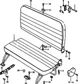 124 - REAR SEAT (STD ROOF:BENCH TYPE)