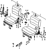 125 - REAR SEAT (HIGH ROOF:SEPARATE TYPE)