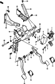 67 - PEDAL AND FEDAL BRACKET