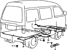 98 - FLOOR MAT AND CARPET (V:HIGH ROOF)