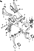 58 - PEDAL AND PEDAL BRACKET