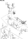 154 - POWER STEERING PIPING (VQ40DE)
