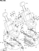 165 - FRONT SEAT (LHD:GL,GX,SGX)