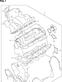 1 - ENGINE GASKET SET