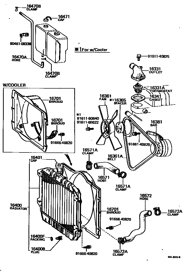 Middle East Corona 261230 Rt100 Yrf 16 03 Radiator Water Outlet Wiring Diagram Name